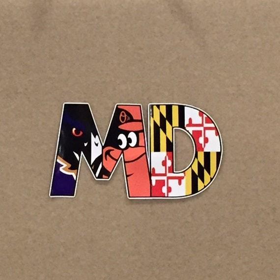 Ravens Orioles Maryland Flag '