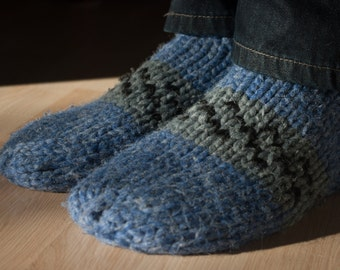 Cowichan Style Slippers - Knitted Slippers