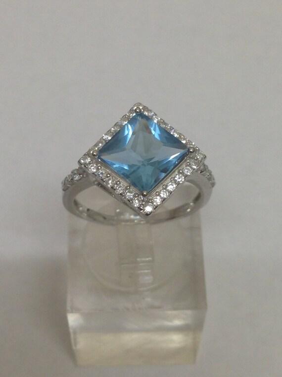 London Blue & White Topaz Sterling Silver Ring