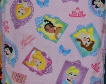 Disney Princess Fleece Blanket with Crochet Edges
