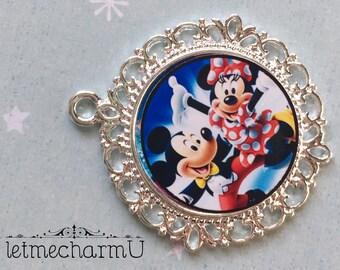 Minnie Mouse Pendant - Minnie Mouse Necklace - Minnie Necklace - Minnie Mouse Jewelry - Mickey Mouse Pendant - Mickey Mouse Necklace