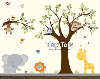 Wall Decals Nursery-Baby Nursery Decor,Nursery Jungle Decal and Safari Nursery Wall Decal-te1