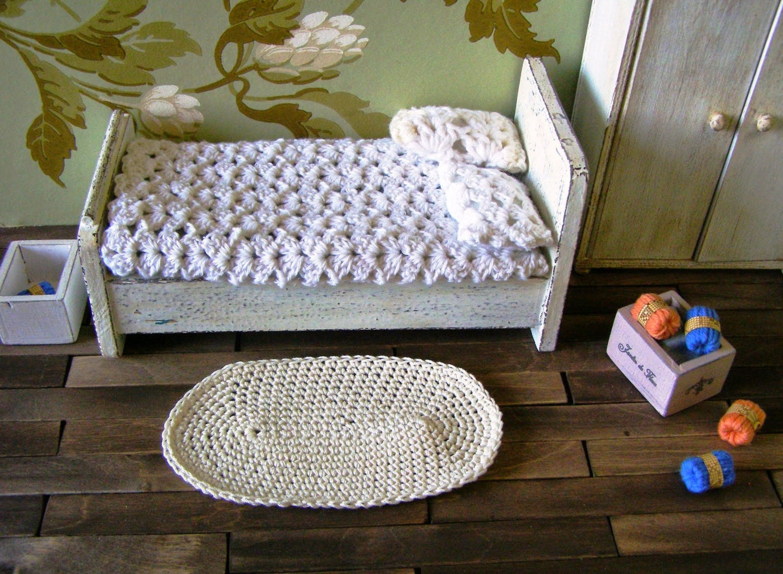 Star Wars Crochet Doll Pattern : Miniature rug dollhouse rug crochet rug 12th scale