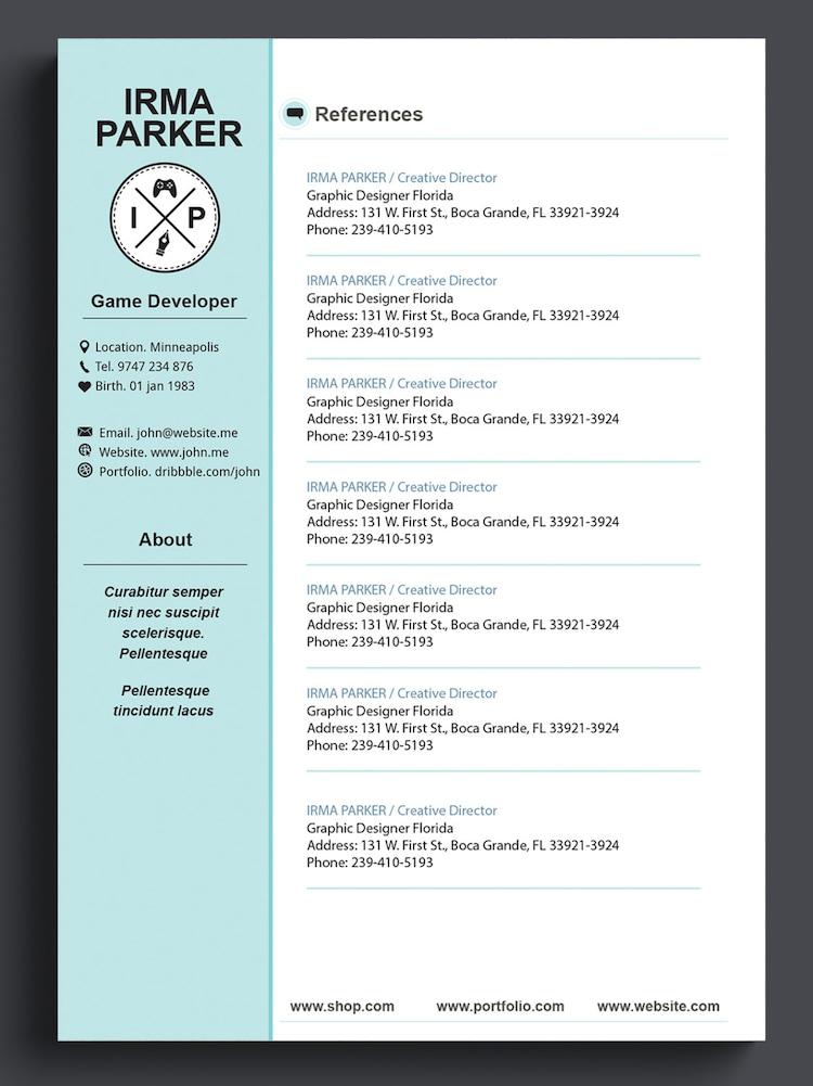 custom resume template cv template photoshop resume by 41bus