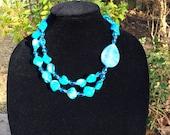 Beautiful blue shell necklace