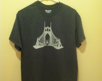 Popular items for st johns bridge on etsy for Portland t shirt printing