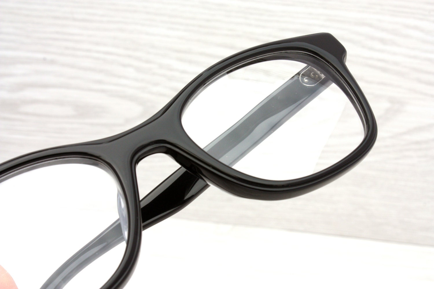 Eyeglasses Frame Japan : Vintage Black Eyeglasses Frame Japan Mad Men Retro by ...