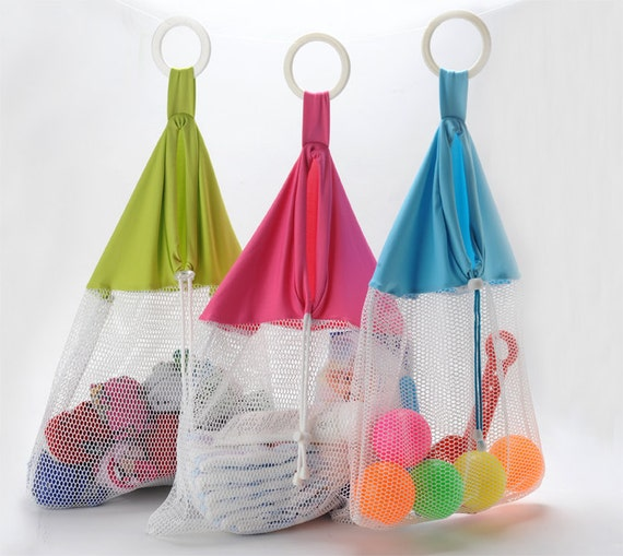 Mesh Net Bath Toy Organizer Laundry Stroller Bag Baby Storage Beach Tote Boy Girl
