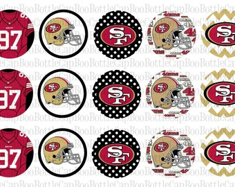 49ers Inspired Bottle Cap Images
