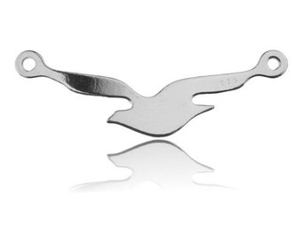 Beautiful connector Seagul Sterling Silver 925