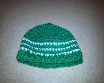 Striped Hat Beanie Custom (NB 0-3 Mth 3-6 Mth 6-12 Mth 1-2 Yr 2-4 Yr Child)