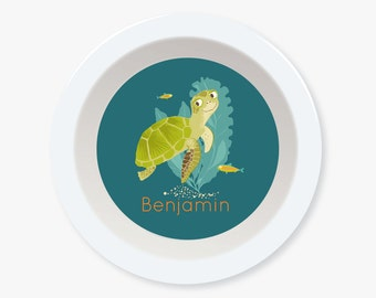 BOWL - Personalized Sea Turtle bowl for kids