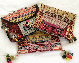 Vintage Tribal Clutch