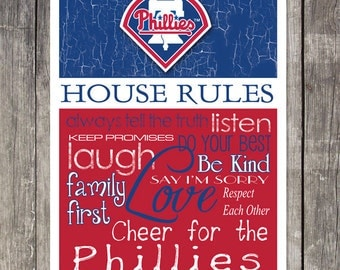 Philadelphia Phillies House Rules 4x4.1/2 Fridge Magnet