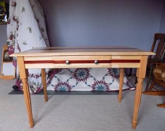 Maple Padauk And Oak Entryway Table