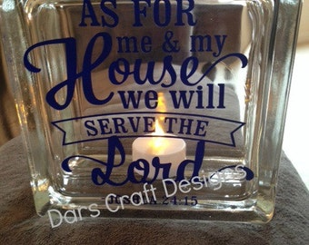 5.5 x 5.5 Glass Decor Block (as is or personalized for you )