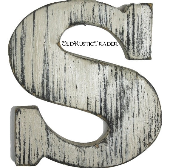 Rustic wall letters home decor letter 8 inch large letter wall Wall letters decor
