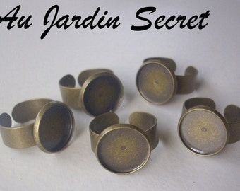 5 ring brackets bronze 14 mm - the Secret Garden