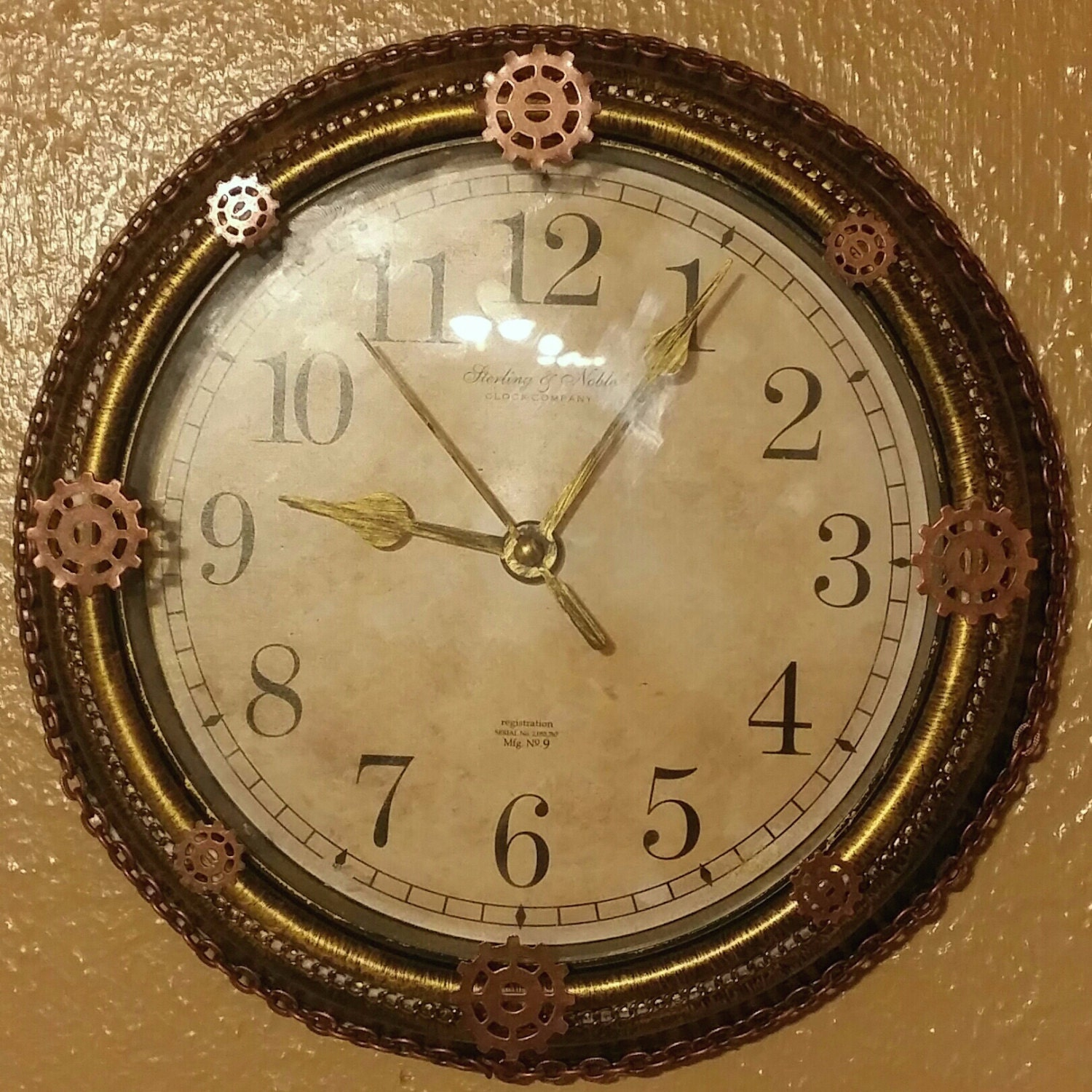 Steampunk Altered Wall Clock