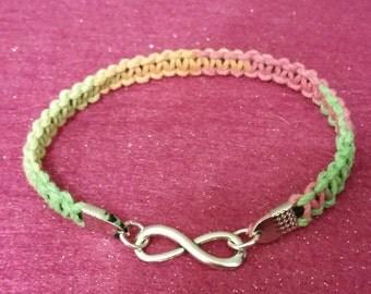 Rainbow Hemp Infinity Bracelet