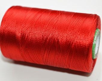Red Silk Thread Spool, Art Silk Thread, Hand And Machine Embroidery Thread, Art Silk Embroidery Thread, Wholesale Indian Silk Thread