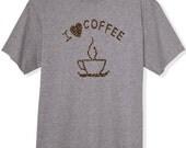 I Love Coffee Tshirt I Heart Coffee Shirt Coffee Addiction Funny Tshirt Gift Ideas For Him For Her