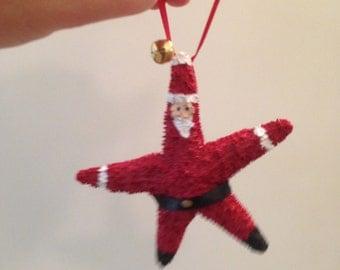 Santa Starfish ornament