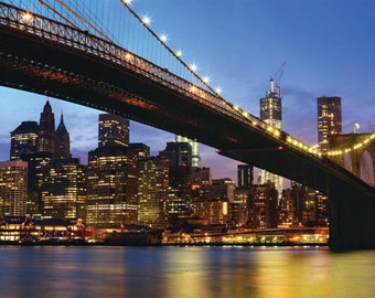 Brooklyn Bridge - Panoramic Lanscape - Manhattan - New York City - USA