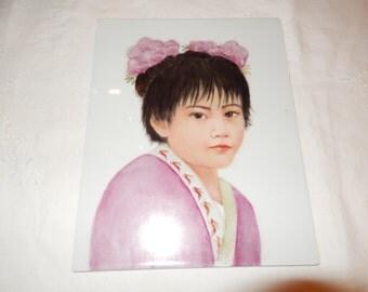 JAPAN ORIGINAL PAINTING on Porcelain