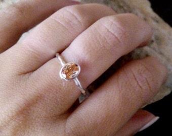 SALE! Oval Citrine ring,Silver ring,November birthstone,stone ring,semiprecious ring,sterling silver,birthstone ring