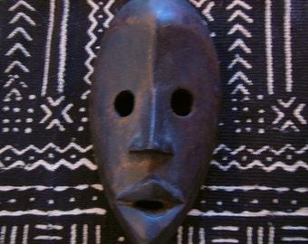 Dan Tribal Passport Mask Carved Wood, Ivory Coast African