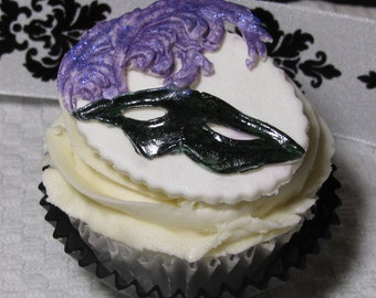 Masquerade Cupcake Toppers (12)