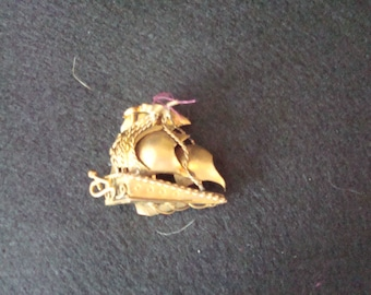 Vintage schooner/pirate ship pin