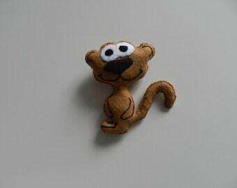 monkey toy, handmade felt toy.