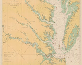 Chesapeake Bay Map - 1914
