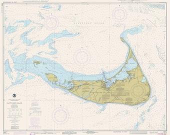 Nantucket Island Chart 1971