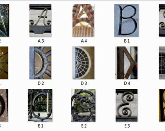 Architectural Letter Photos from Charleston, SC. Buy Indivudually or as a collection of Prints
