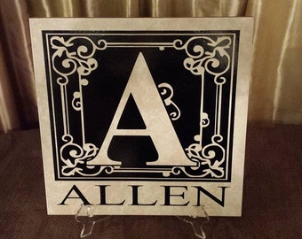 Personalized Initial Tile