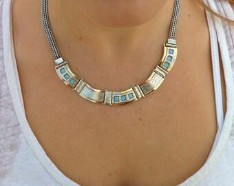 FINE Blue Opal necklace