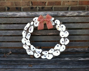 Up cycledOyster shell wreath