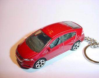 3D 2010 Honda Insight custom keychain by Brian Thornton keyring key chain finished in red color trim greddy