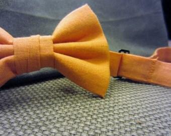 Tangerine Tango Bow Tie - Adjustable Bowtie