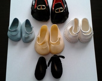 Vintage Doll Shoes, Lot of 5