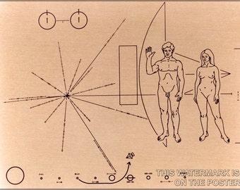 24x36 Poster; Pioneer Probe Plaque