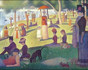 24x36 Poster; Sunday Afternoon On The Island Of La Grande Jatte Painted By Georges-Pierre Seurat In 1884 - 1886