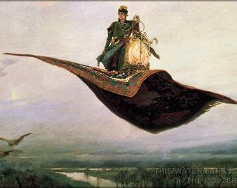 24x36 Poster; The Flying Carpet By Viktor Vasnetsov (1880