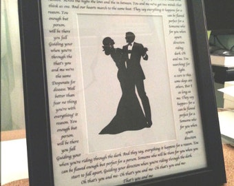 Personalized Song Lyric Frame [BLACK]