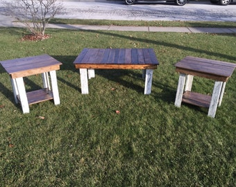 Rustic Coffee table and End tables