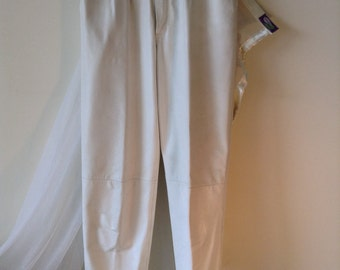 Genuine Erik Planinsek white leather pants size 38 now 30% off