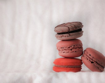 Dessert Photography,  Macaroons Photography, Food Photography, Girl's Room Decor, Cafe Decor, Kitchen Decor, Bakery Decor